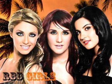 Dulce Anahi and Maite - Rebelde. The main characters of the series are Roberta and Diego, Mía and Miguel, who met during su