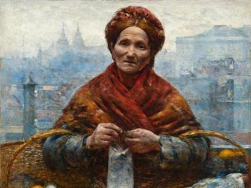 Żydówka z pomarańczami - Żydówka z pomarańczami (Pomarańczarka, Przekupka z pomarańczami) − obraz olejny polskiego mal
