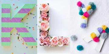 DIY - do it at home - Colorful letters to place on the shelf