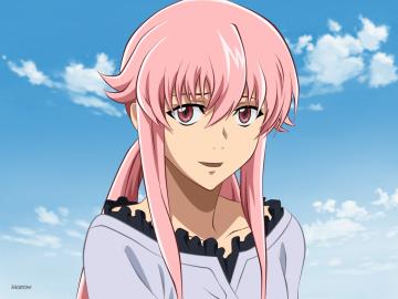 Аниме Юно Газай - Юно Газай е главният герой от поредицата Mirai Nikki и Потре
