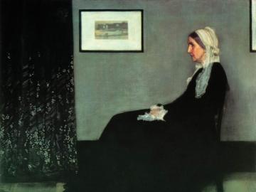 """La madre de whistler - El arreglo en gris y negro No. 1, mejor conocido bajo el nombre coloquial """"Whistler's Moth"""