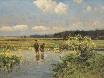 Koretor Wiktor - Wiktor Korecki (Kamieniec Podolski 1890 - Komorów vicino a Varsavia 1980) - pittore di paesaggi - s