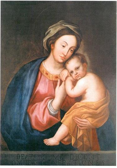 Madonna și Copilul - Prototipul pentru pânza care o înfățișează pe Fecioara Maria cu Copilul, datând de la începutul secolelor al XVII-lea și al XVIII-lea, necunoscut pentru autor, a fost un tablou miraculos de l (4×5)