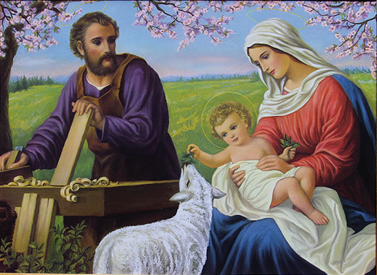 Holy Family - Holy Family, sometimes also called the Holy Family - in Christian theology a family whose members we