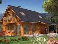Drewniane wiejskie domy