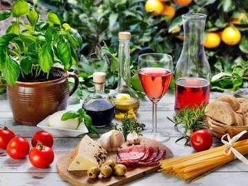 Blumen und Fruechte - kwiaty owoce smaczne danie