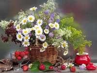 boeket bloemen in een vaas