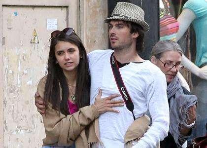 Nina Dobrev y Ian Somerhalder - najpiekniejsza para w prywatnym zyciu jak i na planie pamietniki wampirow