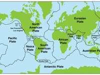 Tektoniska plattor - En karta över jordens tektoniska plattor
