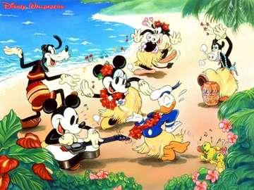 Bajki Disneia - Zwierzaki bawią się na plaży