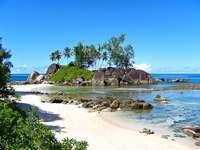O insulă mică - Seychelles în Oceanul Indian
