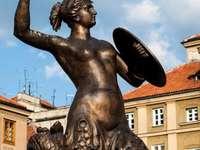 Warschauer Meerjungfrau - Spróbuj ulożyć Syrenké Warszawską.