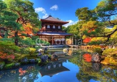 Китайска сграда - Есенна гледка от Китай (10×10)