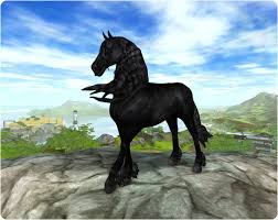 Star Stable Frisian xD - je to z starstable.com (3×3)