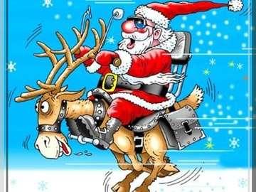 Babbo Natale e renne - Spróbuj ułożyć Świętego Mikołaja