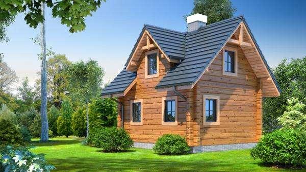 Domek z bali - Projekt domu gajowo 6 beta (10×10)