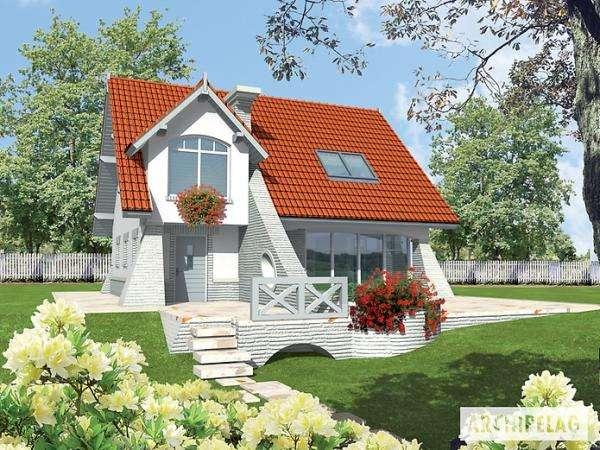 Cottage in weiss - Klein und Weiss. Projekt domu Konstancja mała. Projekt Konstancja mała (10×10)