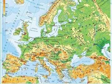 geography - PUZZLE GEOGRAFICZNE o kontynencie Europejskim , bardzo uczące , bardzo fajne do poćwiczenia