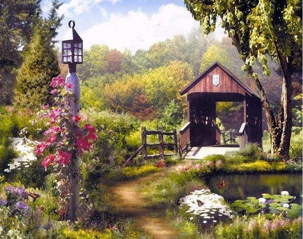 drewniana altana w ogrodzie - drewniana budowla ogrodowa