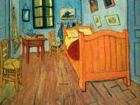 The artist's room in Arles - Obraz Vincenta van Gogha