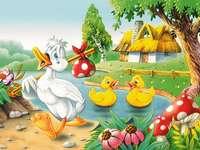 Ugly Duckling - Brzydkie kaczątko opuszcza dom.