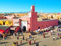 Färgglad Marocko marknad
