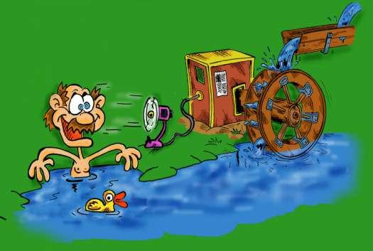 zdrowa woda energii Ci doda - zabawa z elektrownią wodną