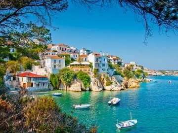 Ciepła plaża w Grecji