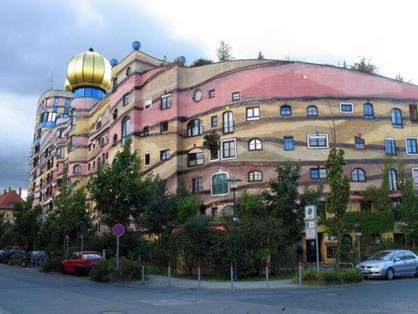 Un edificio redondeado