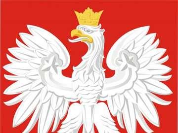 Emblema polonês - quebra-cabeças mostram o emblema polonês