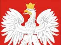 Pools embleem - puzzels tonen het Poolse embleem