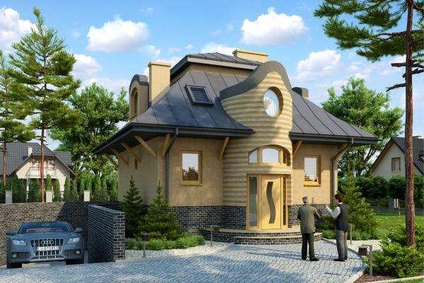 Ett intressant hus - Huset har ett modernt arrangemang (10×10)
