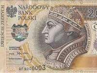 200 banconote in PLN - Spróbuj ułożyć banknot 200 zł.