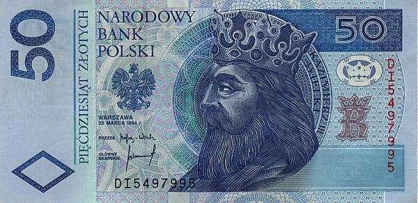 bankbiljet PLN 50 - 50 zloty. Probeer een bankbiljet van PLN 50 te regelen. Terwijl u mijn foto schikt, ziet u een bankbiljet van PLN 50 (3×2)