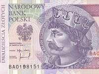 Billet de 20 PLN - 20 złotych. Spróbuj ułożyć banknot 20 zł. Jak ułożysz moje puzzle zobaczysz banknot 20 złot