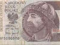 банкова бележка 10 PLN - Опитайте да подредите банкнота от 10 злоти.