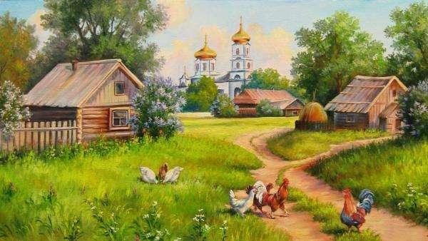 Руско село - Руско село с колиби (10×10)