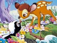 ariel 789456123 - bambie skunk nyúl virágok