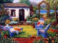 otthon, kert, autóülések