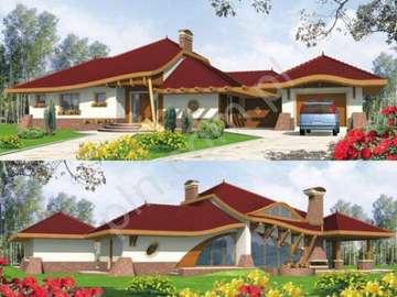 A small house - Dom z przodu i z tyłu