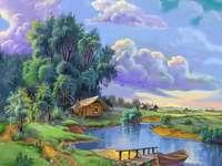 barco do céu, lago