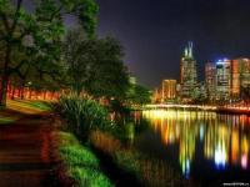 city landscape at night - krajobraz miasta nocą citta paesaggi