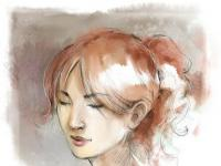 girl-watercolor - girl water color by unknown artist