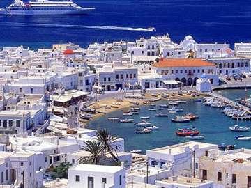 Mykonos et la Grèce - Il porto et il paese de Mykonos