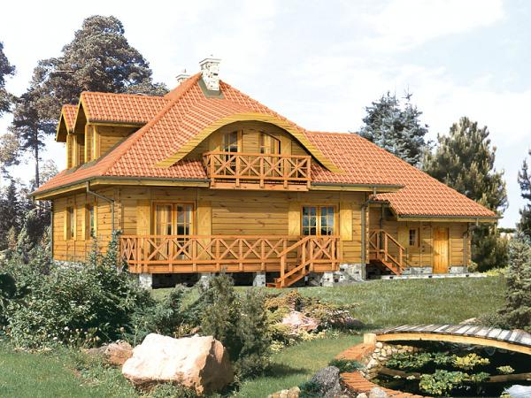 Голяма къща - Дървена дървена къща (10×10)