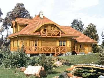 Duży domek - Dom z bali drewnianych