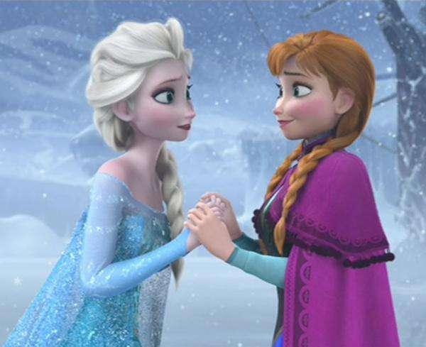 Ice Land - Frozen: Elsa en Anna (5×4)