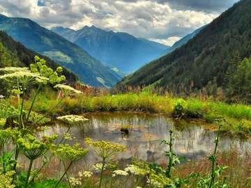 krajobraz  górski - góry  letnią  porą