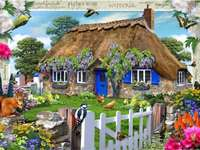 vidéki ház a kertben