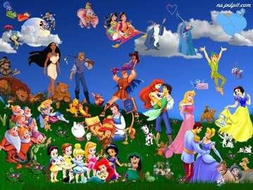 Bajki Disneya - Wesołe postacie z bajek